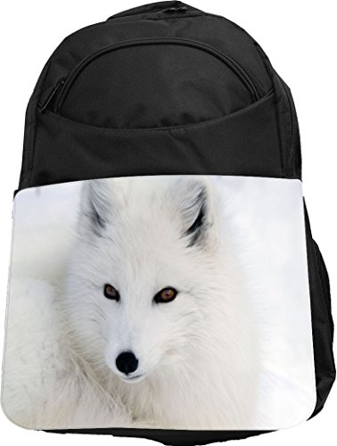 Rikki Knight UKBK White Arctic Fox Close-Up Tech BackPack...