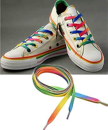 Amazon.com: Rainbow Paracord – 1 par de cordones de cordón ...