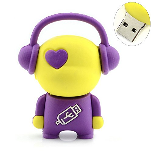 Price comparison product image A-one Usb Flash Drive Gifts Musician Music Keychain Pen Drive 16gb (Purple)