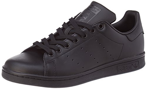 adidas Men's Originals Stan Smith Sneaker, Core Black/Black/Black, 10.5 M US