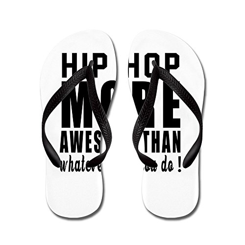 Cafepress Hip Hop Mer Enorma Designer - Flip Flops, Roliga Rem Sandaler, Strand Sandaler Svart