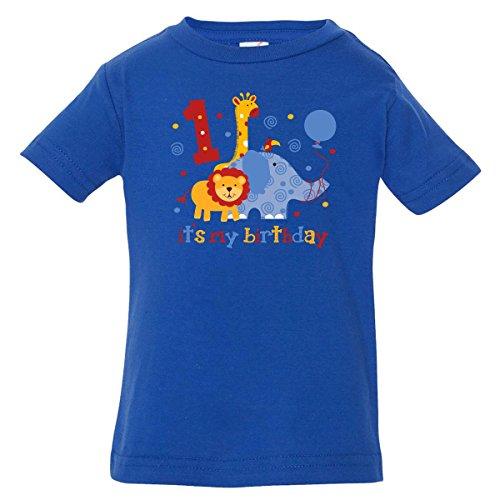 Inktastic Baby Boys' Safari 1st Birthday Baby T-Shirt 18 Months Royal Blue