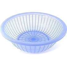 VIP Home Essentials Large Plastic Wash Basket Food Straining & Preparing Colander - Lavender