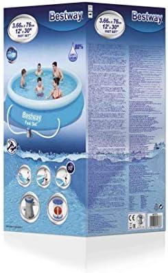 Bestway Fast Set Juego de Piscina con Bomba de Filtro, Azul, 366 x ...