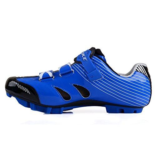SIDEBIKE S03de adultos MTB o Carretera sintético zapatillas de ciclismo para MTB-Blue