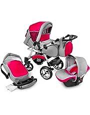 Urbano kombibarnvagn, barnvagn, barnstol, 3-i-1-system, bilstol, Carlo
