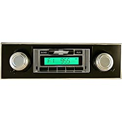 1967-1968 Chevrolet Camaro with BLACK Dash Custom Autosound USA-230 AM/FM Stereo Radio 200 watts