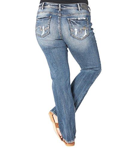 Silver Jeans Women's Plus Size Suki Rise Slim Bootcut Jean, Mid Wash Indigo, 18x33