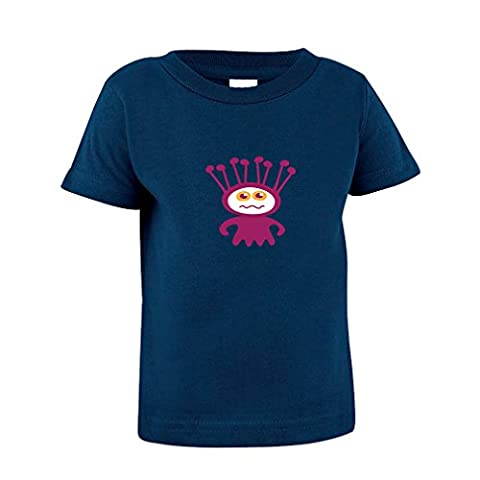 Alien Purple Cartoon Character Toddler Baby Kid T-Shirt Tee 6 Mo - 7T Navy 3T - Toddler Purple Character T-shirt