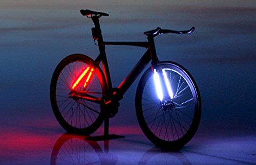 LEDBYLITE - LED Bicycle Frame Lights, Cycling Safety Lights, Waterproof Headlight and Taillight Flexible Strip runs up to 25 hours, 48 LED's Bicycle Light Super Bright, Quick Release