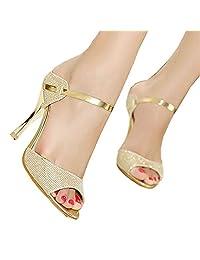 Women Sandals Sexy High Heels Women Pumps NEW Women Shoes Gold Silver Summer Sandals Heels Ladies Shoes gold 7.5