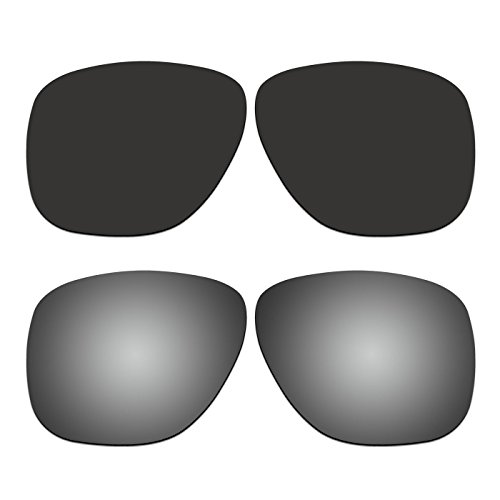 2 Pair ACOMPATIBLE Replacement Polarized Lenses for Oakley Crossrange XL Sunglasses OO9360 Pack - Crossrange Oakley Replacement Lenses