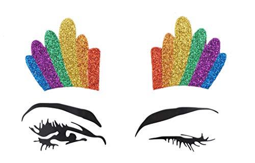(festival glittery chunky face tattoo sticker party body glitter stickers flash temporary adhesive mermaid rainbow headpiece sticker)