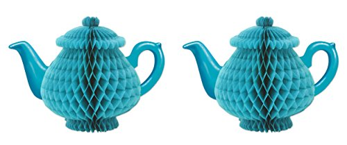 Beistle 59947, 2 Piece Tissue Teapot Centerpieces, 7