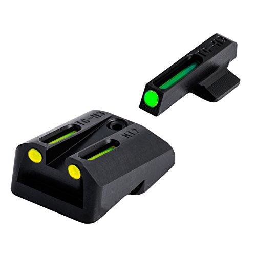 TRUGLO TFO Handgun Sight Set - Fits Novak LoMount Cut .260/.500 (Yellow/Green)