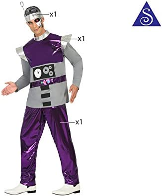 Atosa- Disfraz Hombre Robot del Espacio, Color Violeta, XL (17196 ...