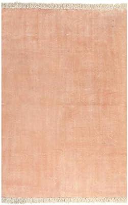 XINGLIEU - Alfombra Kilim de algodón, 120 x 180 cm, Color Rosa, Alfombra Moderna para salón o salón: Amazon.es: Hogar