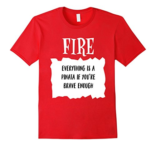 Mens Taco Fire Hot Sauce Halloween Costume Pinata Funny T shirt 2XL Red