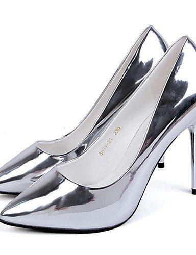 GGX  Damen-High Heels-Kleid   Party & Festivität-Kunstleder-Stöckelabsatz-Absätze-Silber   Grau B01KL7LWR6 Sport- & Outdoorschuhe Stimmt