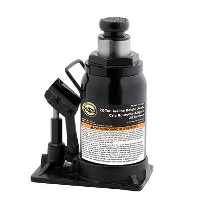 Omega 10200 Black Hydraulic In-Line Bottle Jack - 20 Ton Capacity