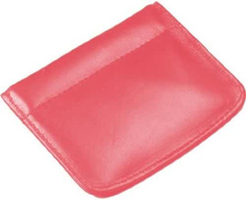 Facile Frame Leather Coin Pouch Color: Coral