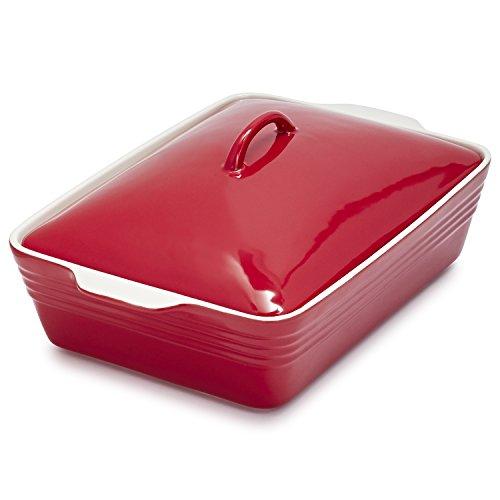 Sur La Table Red Oven-to-Table Casserole with Lid M96-W-7421 , 4 qt. (Table Oven Sur La)