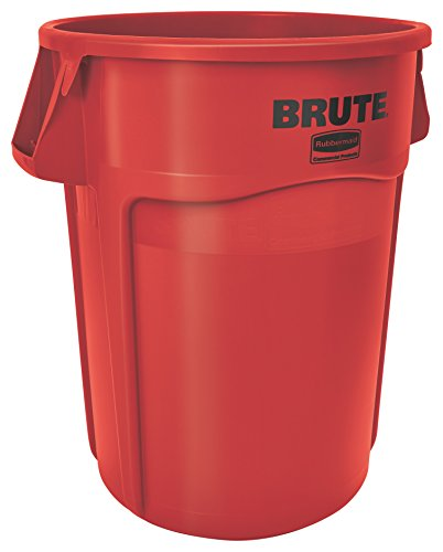 44 Gallon Trash Container - Rubbermaid Commercial BRUTE Trash Can, 44 Gallon, Red, FG264360RED