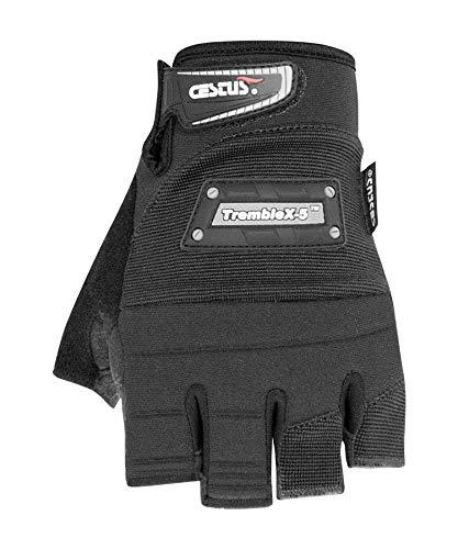 Cestus Vibration Series TrembleX-5 Neoprene Polychloroprene Anti-Vibration Glove, Work, Large, Black (Pack of 1 Pair)