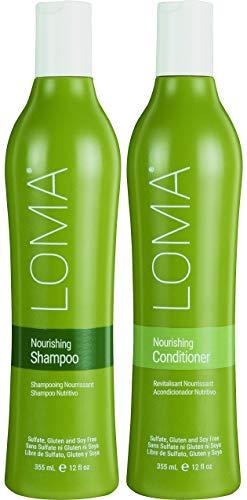 Loma Hair Care Nourishing Shampoo Nourishing Conditioner Duo, 12 oz. from Loma Hair Care