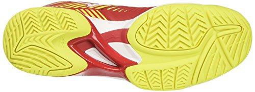 Mizuno Wave Exceed Tour 3 AC, Scarpe da Tennis Uomo Rosso (Marsred/White/Safety Yellow)