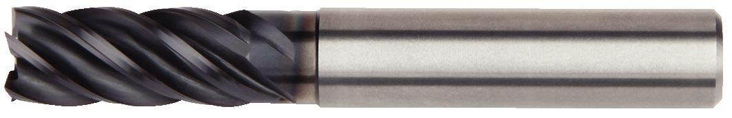 WIDIA Hanita 57N810004MT VariMill II 57N8 HP End Mill Carbide 10 mm Cutting Dia 10 mm Shank Dia 5-Flute AlTiN Coating RH Cut Straight Shank