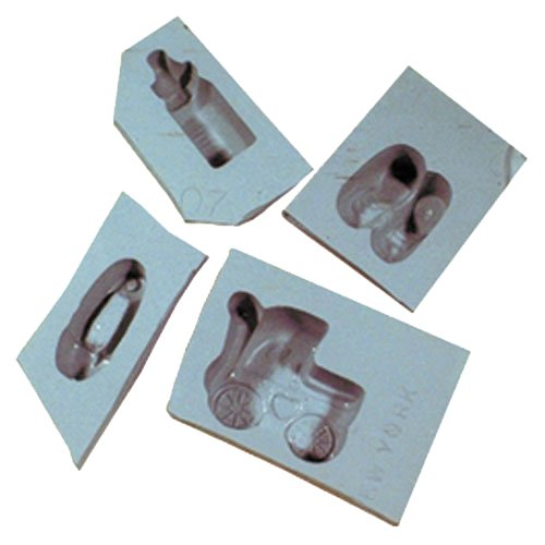 Baby Shower Rubber Mold Set, 4/pk (Best Cheese For Baby)