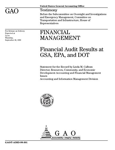 Financial Management: Financial Audit Results at GSA, EPA, and DOT