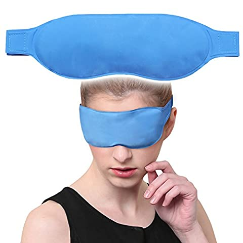 Azusa Cooling Eye Mask,Sleeping Mask With Strap,Reusable Cold / Hot Therapy Gel Eye Mask For Improve Sleeping, Alleviate Puffy, Swollen Eyes, Fatigue, Headache,Migraine, Neurosism And - Cars Cooling and Heating