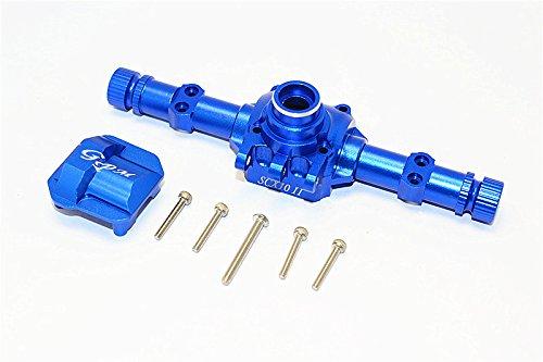 Axial SCX10 II Aggiornamento Parti (AX90046, AX90047) Aluminium Front Rear Axle Housing With Cover - 1 Set blu