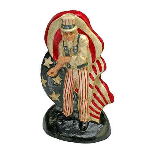 Design Toscano Fighting Uncle Sam Bookend and Doorstop Sculpture