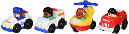 Fisher-Price Little People Wheelies Community Helpers 4-Pack (People Helpers)