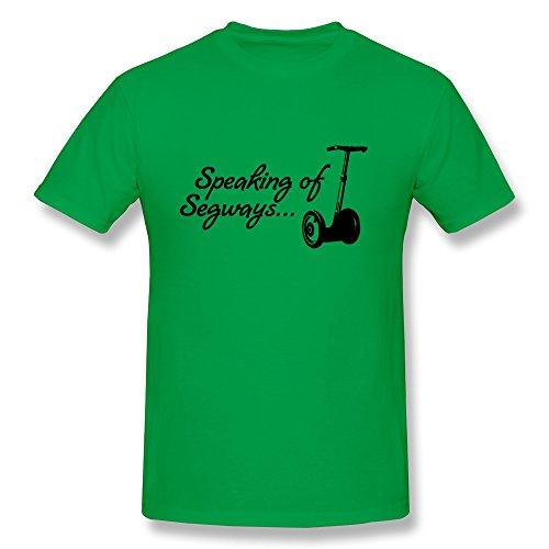 SHHY Men's Speaking Segways T Shirt Small ForestGreen