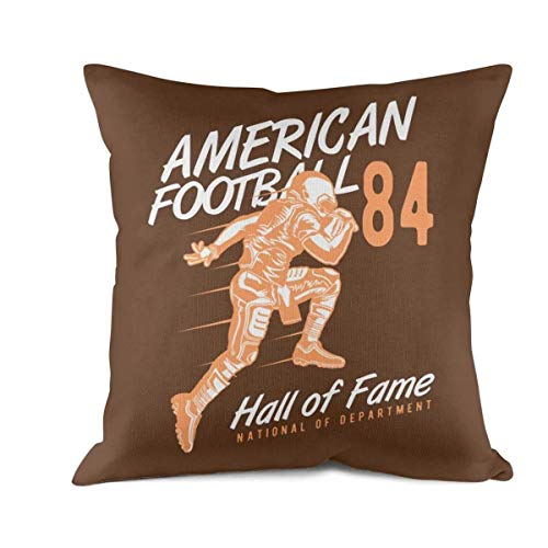 - FPFLY 18x18 Inch Square Throw Pillow Cushion Covers Cotton Home Decor Design American-Football-Hall-of-Fame- Pillow Cover