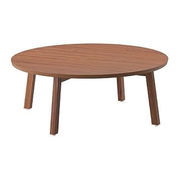 Ikea Stockholm Couchtisch Aus Nussbaumfurnier 93cm Amazon De