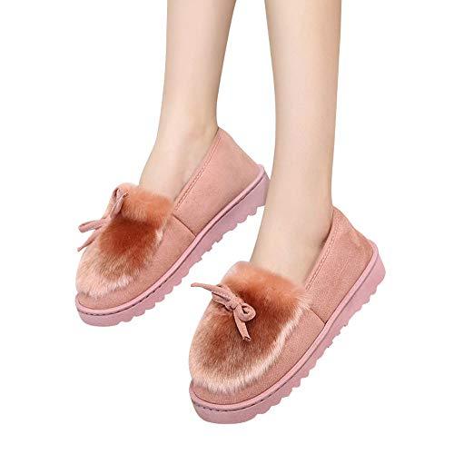 de Vestir Terciopelo para Nieve PAOLIAN o Oto Plataforma de Botines Mujer ora Zapatos Rosa Damas Botas 2018 Se Invierno con Bajos Calzado Grande para Antideslizante Lana Talla Suave Botines Moda xS0wgn56q1
