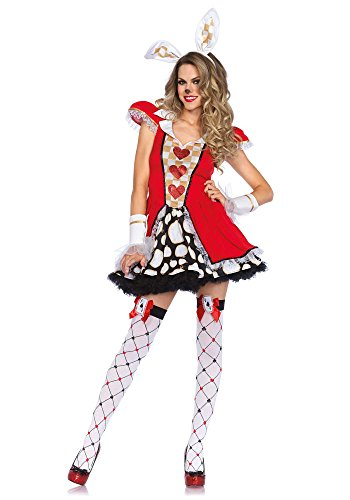[Leg Avenue Women's 3 Piece Tick Tock White Rabbit Costume, Multi, Medium/Large] (Halloween Costumes Rabbit)