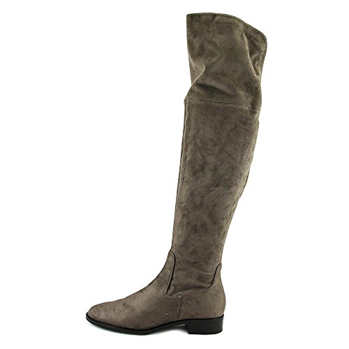 Trump Luci Ivanka New Over Knee Canvas Charcoal Gray Round Toe Women Boot the 5ddWf6R