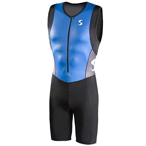 Synergy Men's Triathlon Trisuit (Blue/Black, - Trisuit Triathlon