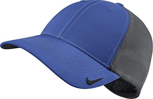 Nike Golf New 2014 Mesh Back Blank Cap - Large/X-Large - Game Royal/Dark Grey - Mesh Back Cap Blank
