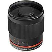 Bower SLY30063CM 300mm f/6.3 High-Power Digital Telephoto Fixed Lens for Canon M EF-M Digital Cameras