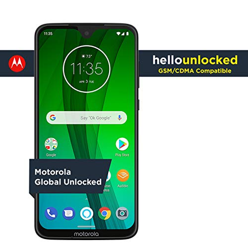 Moto G7 with Alexa Hands-Free - Unlocked - 64 GB - Ceramic Black (US Warranty) - Verizon, AT&T, T-Mobile, Sprint, Boost, Cricket, & Metro (Best Value Android Smartphone 2019)
