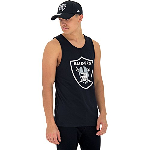 Oakland Raiders Tank - New Era Dryera Tank Vest Medium Oakland Raiders
