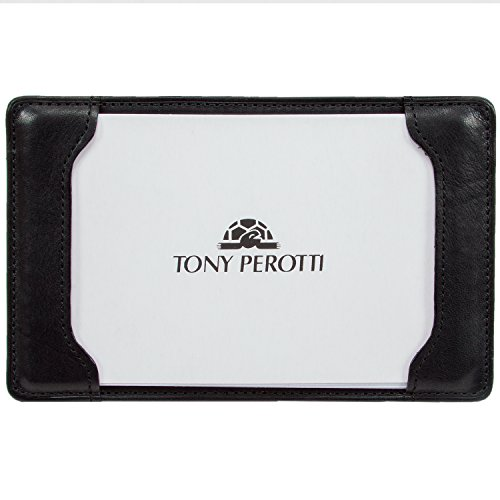 Leather Pocket Note Memo Jotter Writing Pad Italian Leather by Tony ()