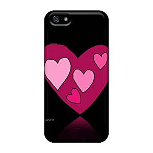 New Fashionable Steptone MzlexLM1003XJpGB Cover Case Specially Made For Iphone 5/5s(hearts)